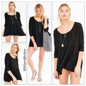 Project social tee scoop neck swing tunic